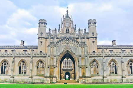 gothic: View of St Johns College, University of Cambridge in Cambridge, England, UK.