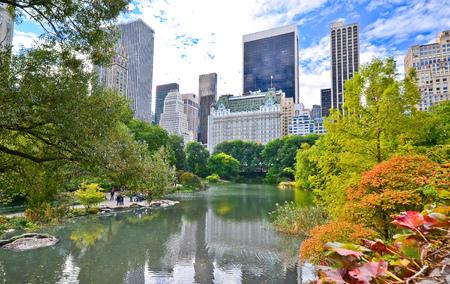秋にニューヨーク市のセントラルパークの眺め