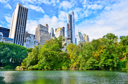 new building: View of Central Park in New York City in autumn