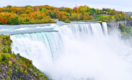 Panorama of Niagara Falls in autumn Stock fotó