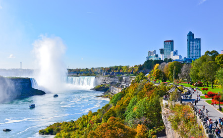View of Niagara Falls in autumn