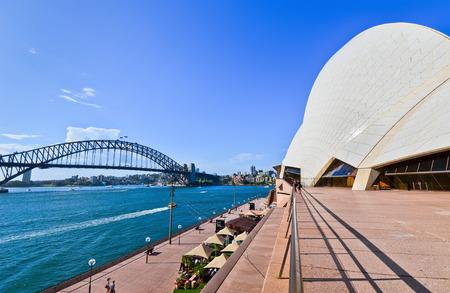 sydney opera house: Sydney Opera House and Harbor Bridge Editorial