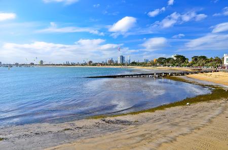 st kilda: St Kilda Beach in Melbourne, Australia.