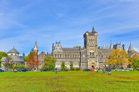 Campus of Toronto University in autumn in Toronto