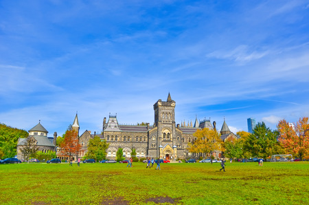Campus of Toronto University in autumn in Toronto