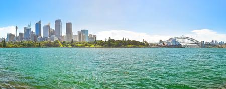 맑은 날에 시드니 항구의 파노라마