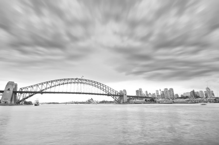 View of Sydney Harbor in a cloudy day 写真素材