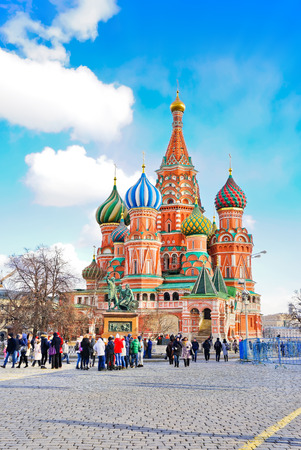 red square: St. Basils cathedral on Red Square in Moscow, Russia
