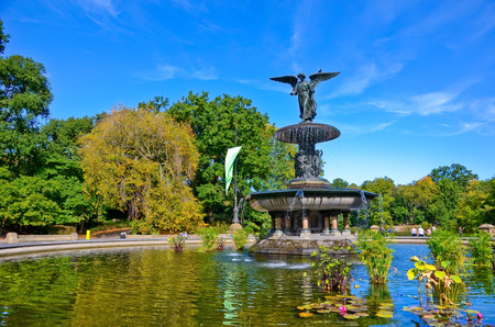 bethesda: Bethesda Fountain in the Central Park, New York City