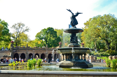 bethesda: Bethesda Fountain in the Central Park, New York City.