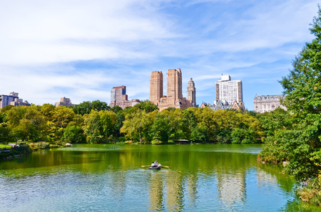 View of Central Park in autumn in New York City. 写真素材