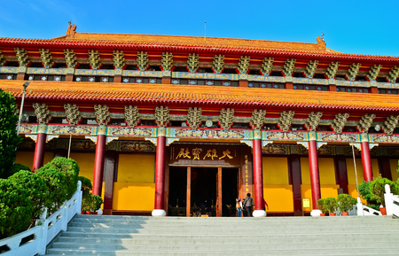 View of the Chinese temple in Taiwan