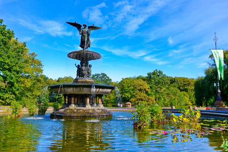bethesda: View of the Bethesda Fountain in the Central Park, New York City