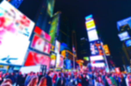 Times Square in New York City with blurred effect Foto de archivo