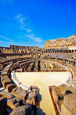 relic: Rome, Italy- September 14, 2016: Interior view of Colosseum in a sunny day in Rome on September 14, 2016.