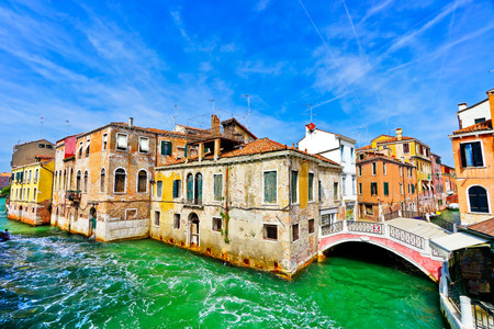 View of the Grand Canal in Venice, Italy. Stock Photo