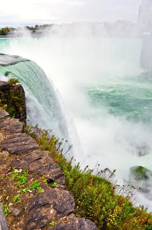 Niagara View from the edge of Niagara Falls at American side in autumn