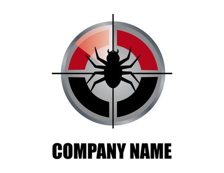 Pest control logo Reklamní fotografie - 68089368