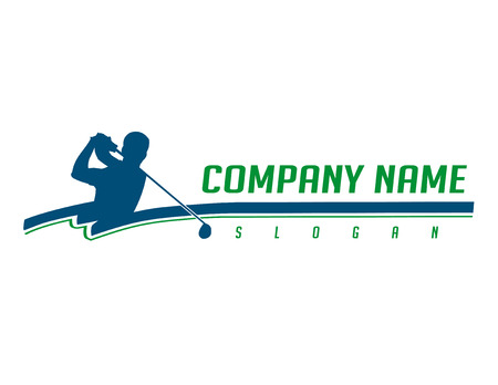 Golfspeler bedrijfslogo