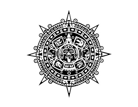symbols: Aztec calendar Illustration