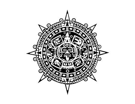 Aztec calendar Vectores