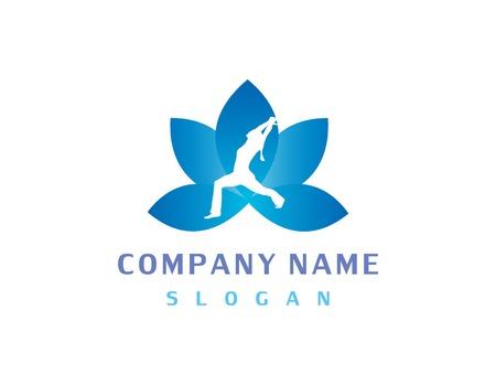 Logo de yoga Banque d'images - 68179706