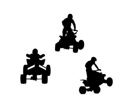 quad: Quad bikes Illustration
