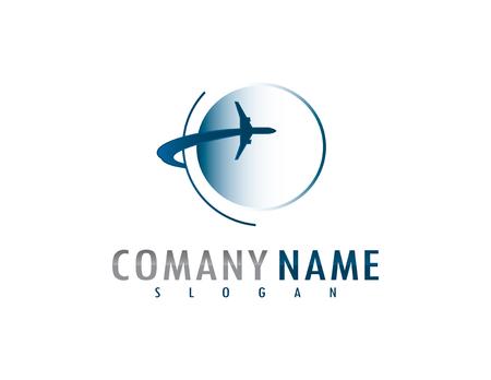 Vliegtuig logo Stockfoto - 68179713