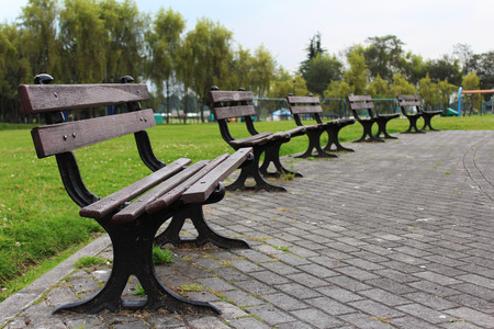 chairs: Park chairs Stock Photo