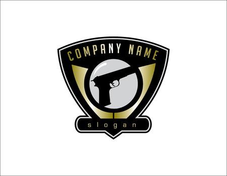 Fire arm store logo Illustration