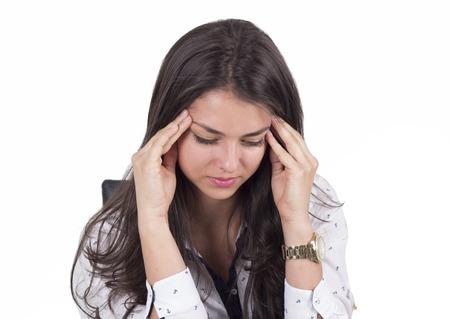 Female with a headache Foto de archivo