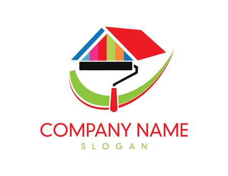 塗料会社のロゴ  イラスト・ベクター素材
