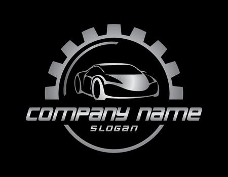 Car business logo black background