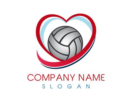 Love volleyball logo Logo