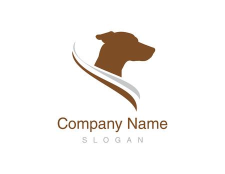 Jack russel dog logo Illustration