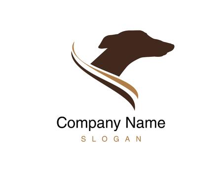 Greyhound dog icon Illustration