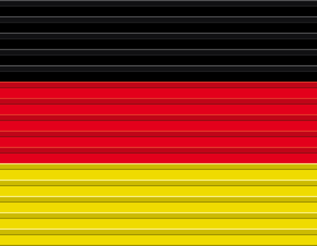 Vector German flag illustration.