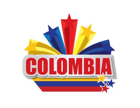 Diseño vectorial de Colombia Foto de archivo - 80601588
