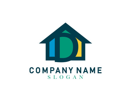 commercial painting: Home letter D design