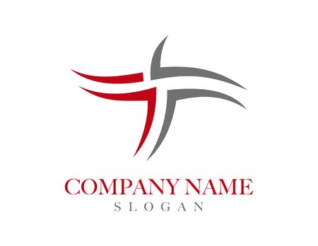 t square: letter T tribal concept logo