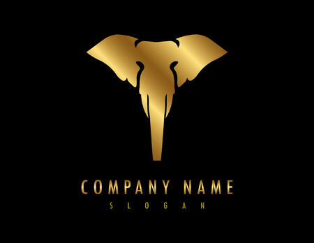 Elephant logo Black Background