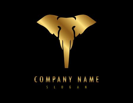 Olifant logo zwarte achtergrond