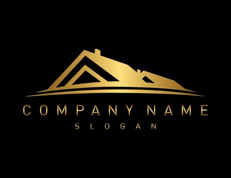 Złoto logo nieruchomości