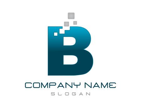 Modern letter B logo Illustration