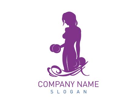 Bodybuilder female logo