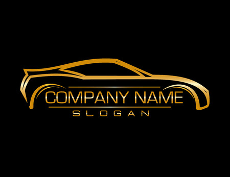 Design car company black background