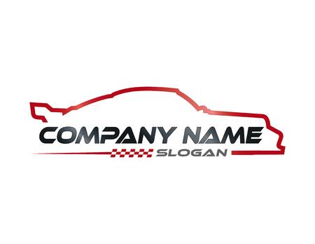 Symbol samochodu wyścigowego Ilustracje wektorowe