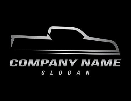 Sport truck logo black background Illustration