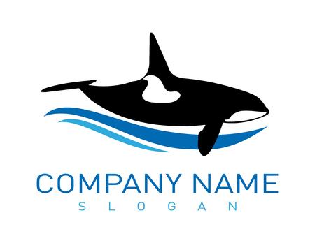 Whale logo Illustration