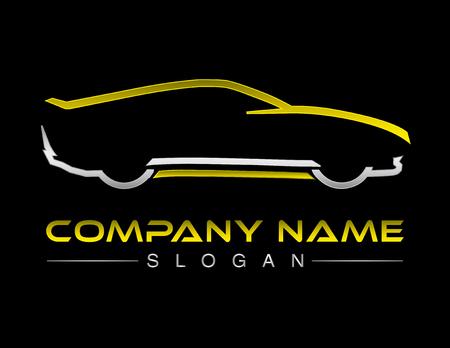Auto Logo schwarzen Hintergrund